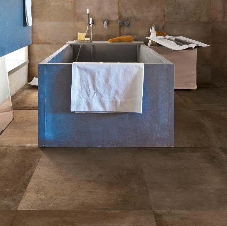 Ergon Tr3nd Concrete Braun Rettificato 120x120 cm C3F86R E3ZZ Tiles Ceramic C...